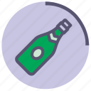 alcohol, bottle, champagne, green, sparkling, violet, wine icon