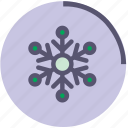 cold, flake, ornament, snow, snowflake, wather, winter icon