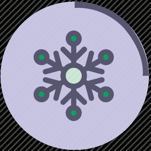 cold, flake, ornament, snow, snowflake, wather, winter icon