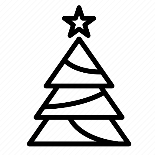 christmas, christmas tree, decorate, leaves, star, tree icon