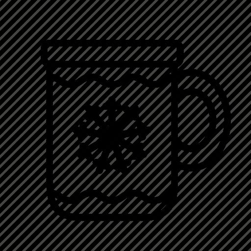 chocolate, christmas, christmas mug, cup, hot, mug icon