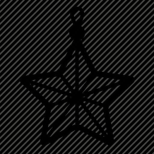 christmas, decoration, light, star, stars, xmas icon