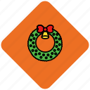 bell, bow, christmas, decoration, ribbon icon