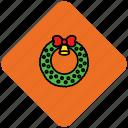 bell, bow, christmas, decoration, ribbon