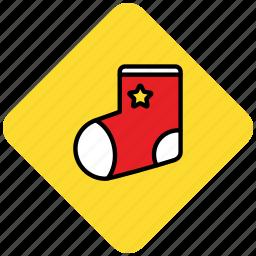 christmas, present, socks icon