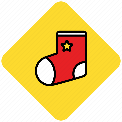 christmas, present, socks icon