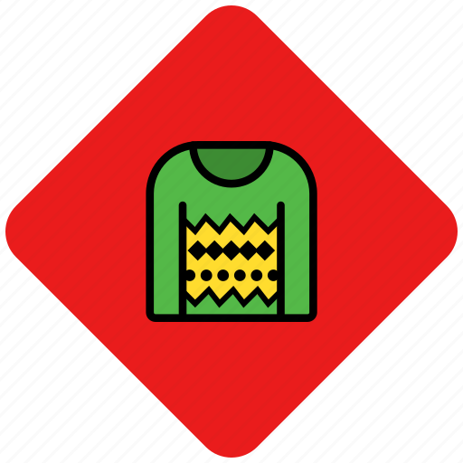 christmas, clothes, sweater icon