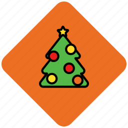 christmas, decoration, tree, winter icon