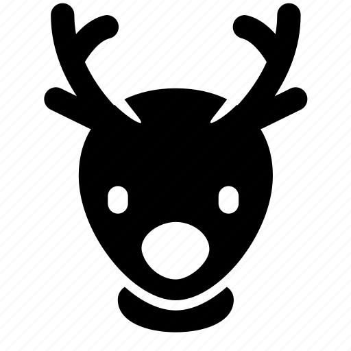 animal, christmas, deer, head, santa, winter, xmas icon