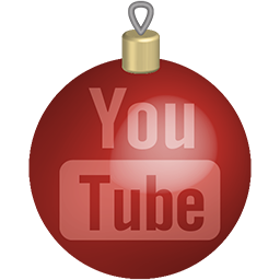 christmas, media, set, social, toys, youtube icon