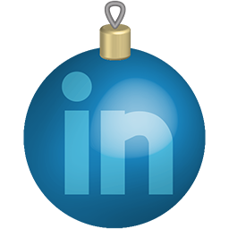 Christmas Linkedin Media Set Social Toys Icon