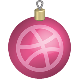 christmas, dribbble, media, set, social, toys icon
