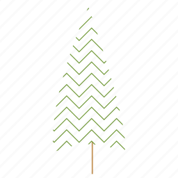 christmas tree, tree icon