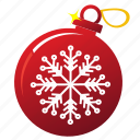 ball, christmas, holiday, new year, snowflakes, tree ball, xmas icon