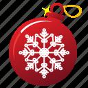 ball, snowflakes, xmas, tree ball, holiday, christmas, new year icon