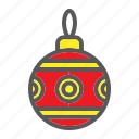 ball, bauble, christmas, decoration, holiday, tree, xmas icon