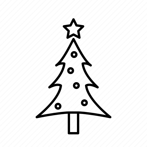 christmas, christmastree, decoration, holidays, small, star icon