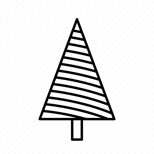 christmas, christmastree, decoration, holidays, lines icon