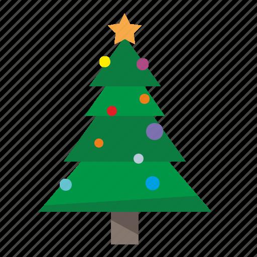 christmas, fir, plant, tree icon