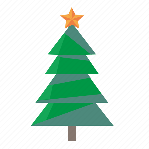 christmas, fir, new, tree, year icon