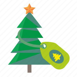 christmas, fir, plant, star, tradition, tree icon