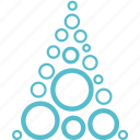 absract, christmas, holiday, tree, winter icon