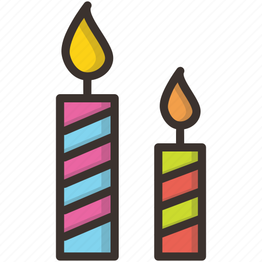 birthday, candle, celebration, christmas, light, new year icon