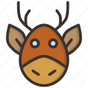 christmas, claus, deer, new year, rein, santa, rudolph
