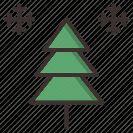 celebration, christmas, decoration, holiday, new year, snow, tree icon