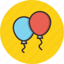 balloon, balloons, birthday, celebration, christmas, new year icon