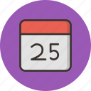 calendar, christmas, date, december, event, festival, month icon