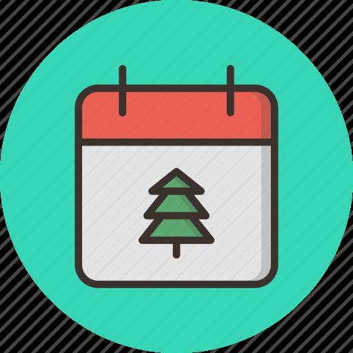 calendar, christmas, date, december, festival, holiday, winter icon