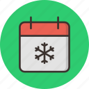 calendar, christmas, date, december, festival, holiday, winter icon