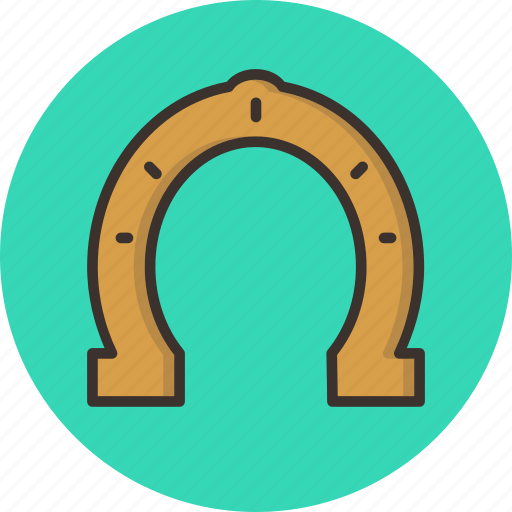 fortune, horseshoe, luck, lucky, magnet icon