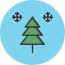 christmas, holiday, new year, snow, snowflake, tree, winter icon