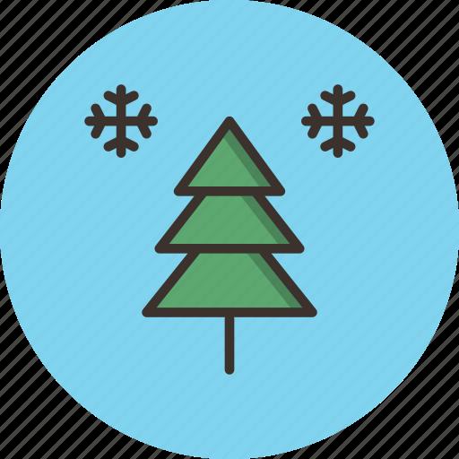 christmas, holiday, new year, snow, snowflake, tree, winter icon