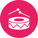 beat, drums, fun, joy, merry, music, play icon