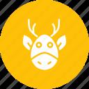 animal, christmas, claus, deer, new year, rein, santa icon