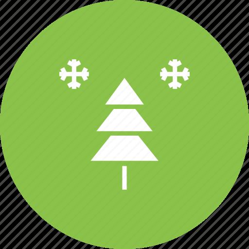christmas, decoration, new year, snow, snowflake, tree, winter icon