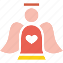 angel, christmas, fairy, new year icon