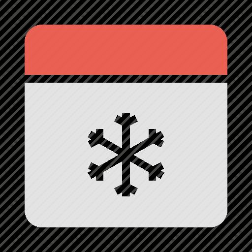 calendar, christmas, date, december, festival, winter icon
