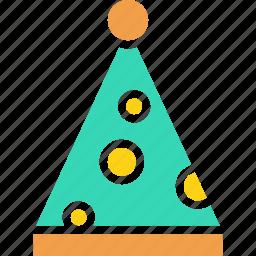 birthday, cap, christmas, clown, fun, merry, party icon