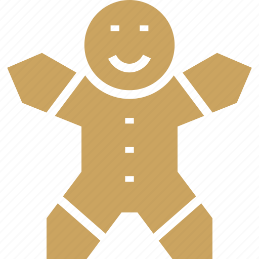 celebration, christmas, cookie, gingerbread, man, new year icon