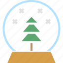 ball, christmas, crystal, gift, snow, tree, xmas icon