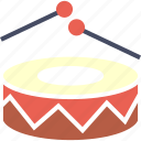 beat, drums, joy, merry, music, play icon