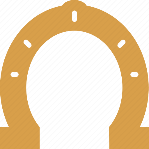 fortune, horseshoe, luck, magnet, ritual, superstition icon