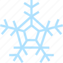 christmas, cold, frost, snow, snowflake, weather icon