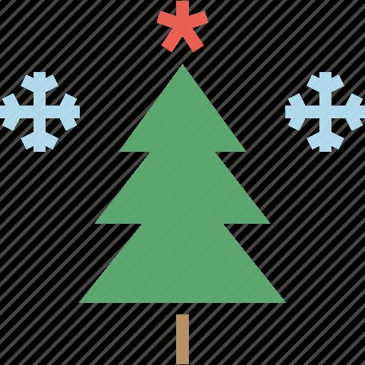 celebration, christmas, decoration, snowflake, star, tree, winter icon