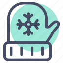 christmas, cold, gloves, wear, winter icon