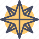christmas, new year, northern, pole, star, xmas icon